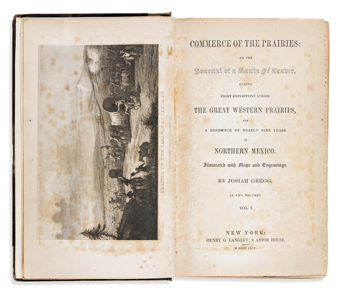 Gregg, Josiah (1806-1850) Commerce of the Prairies: or the Journal of a Santa Fe Trader.