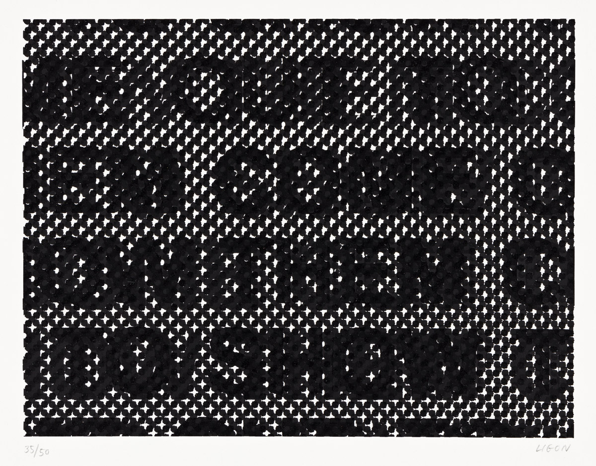 GLENN LIGON (1960 - ) Detail.