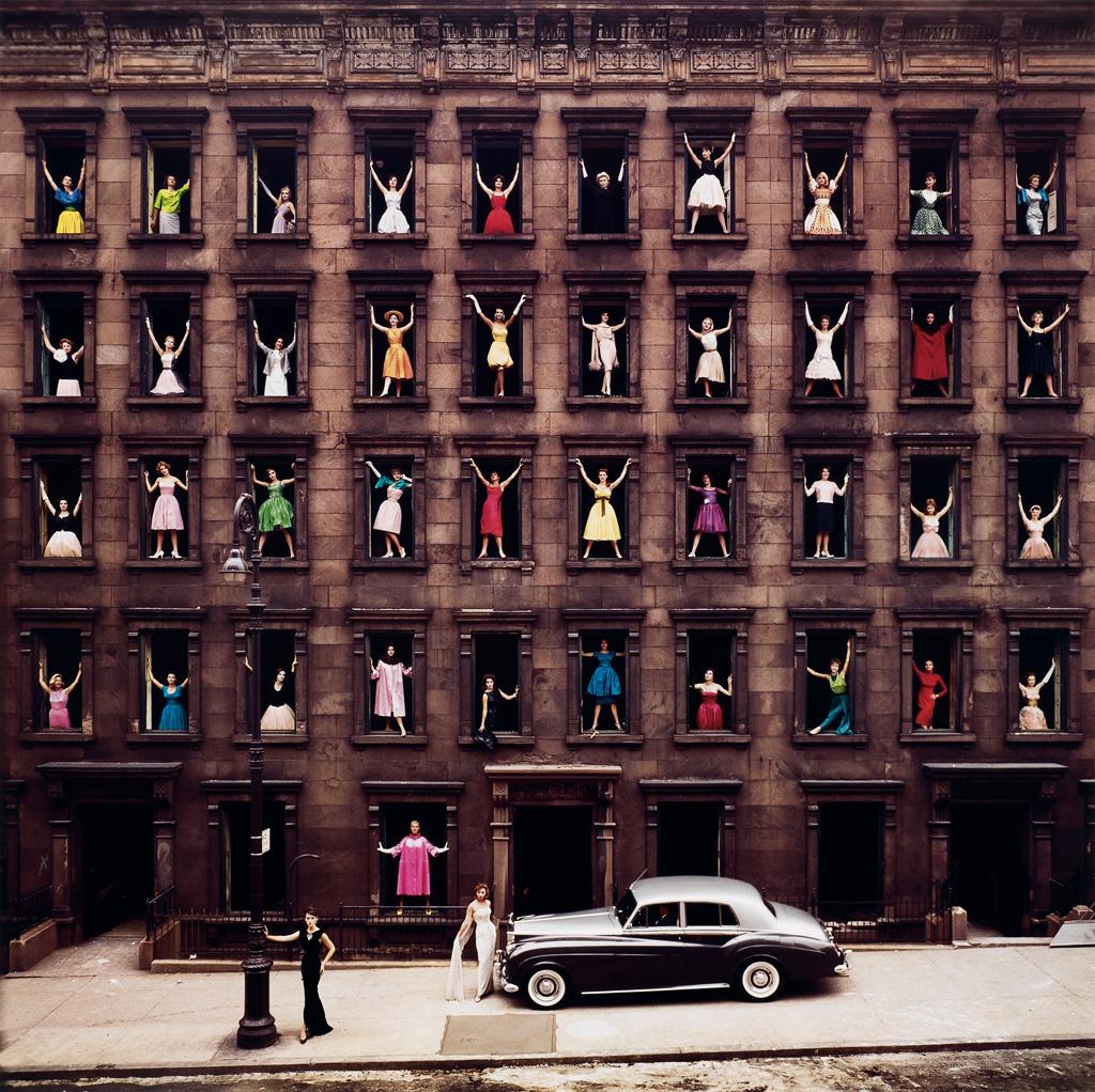 ORMOND GIGLI (1925- ) Girls in the Windows, NYC.