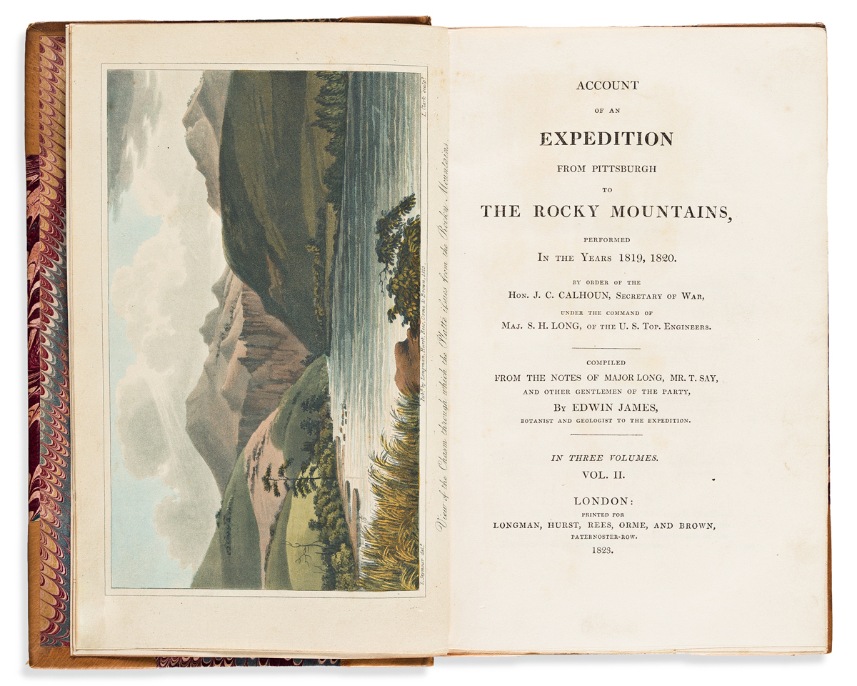 James, Edwin (1797-1861) Account of an Expedition from Pittsburgh to the Rocky Mountains, Performed in the Years 1819, 1820.