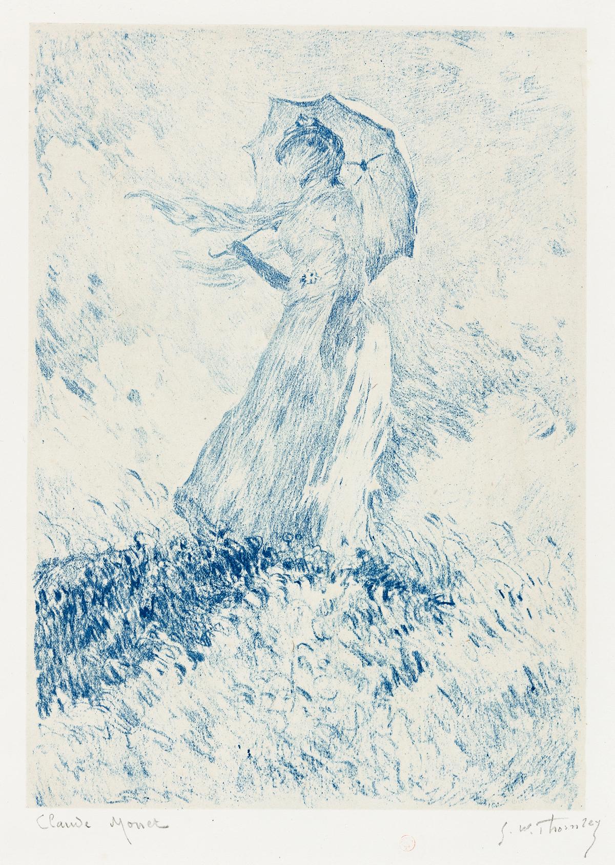 CLAUDE MONET and GEORGE W. THORNLEY Femme à l'ombrelle (Suzanna Hoschedé).