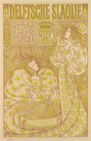 JAN-TOOROP-(1858-1928)-DELFTSCHE-SLAOLIE-1895-35x23-inches-89x58-cm-S-Lankhout--Co-[The-Hague]
