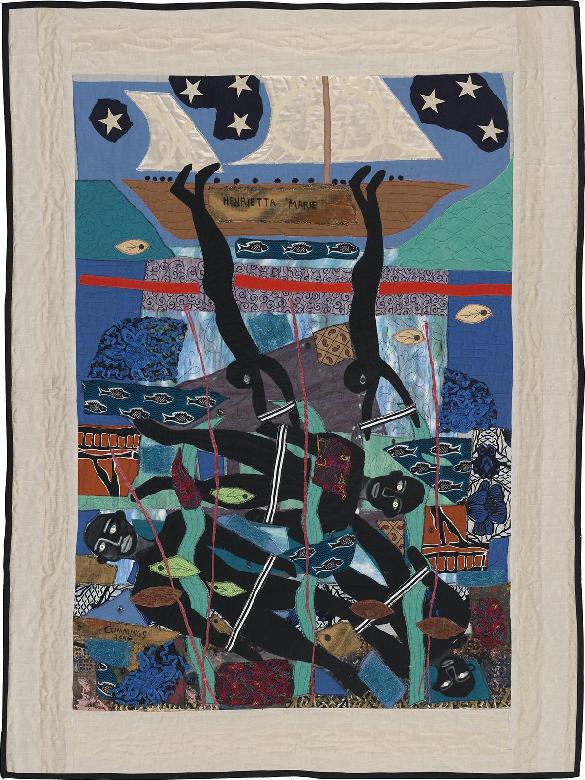 MICHAEL A. CUMMINGS (1945 -   ) Escaping the Slave Ship Henrietta Marie.