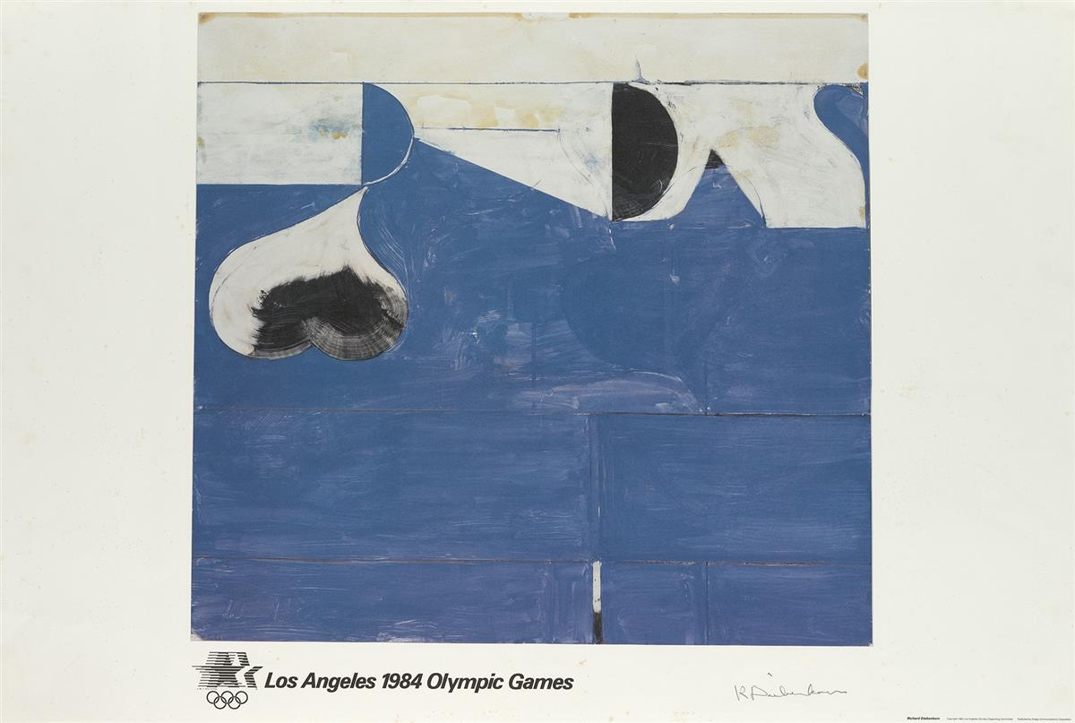RICHARD DIEBENKORN (1922-1993). LOS ANGELES 1984 OLYMPIC GAMES. 1982. 24x36 inches, 61x91 cm. Knapp Communications Corporation, Los Ang