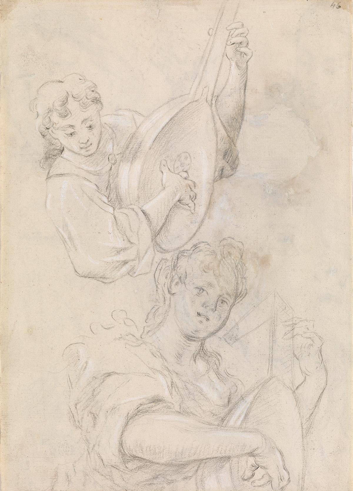 ITALIAN-SCHOOL-17TH-CENTURY-Studies-of-a-Lute-Player