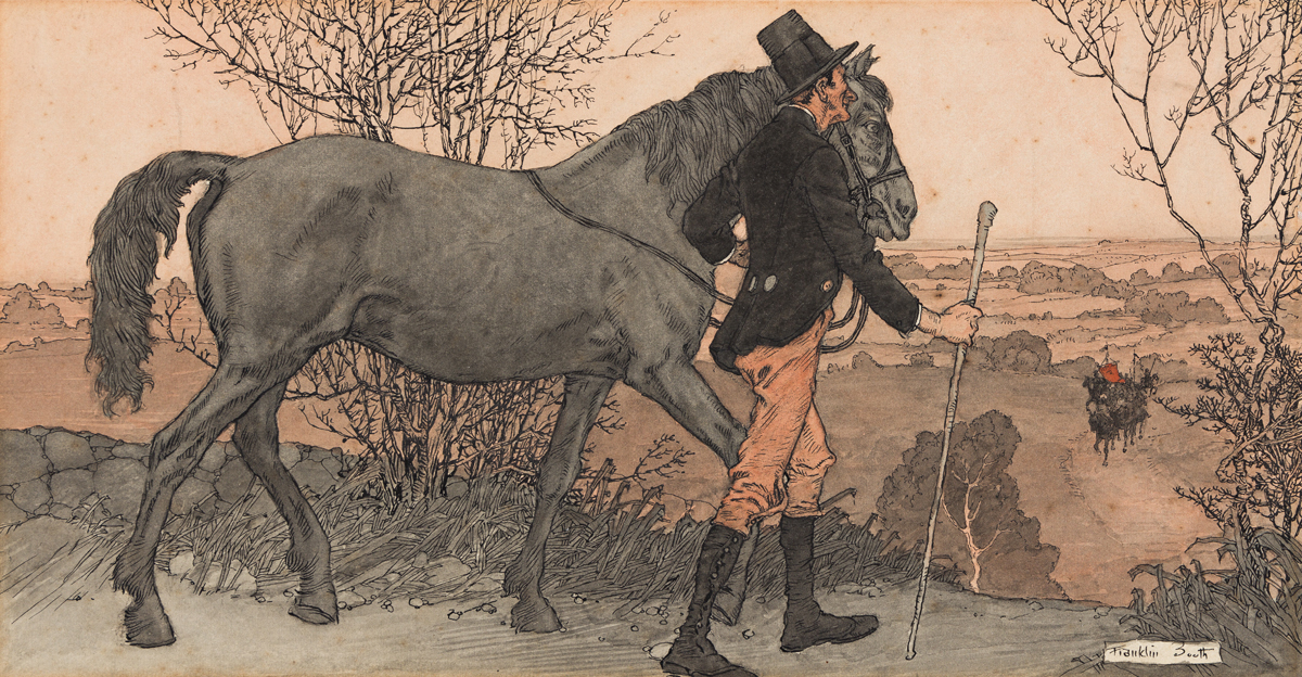 FRANKLIN BOOTH (1874-1948) The Colored Horse.