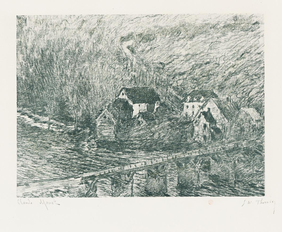 CLAUDE MONET and GEORGE W. THORNLEY Le Pont de Vervy.