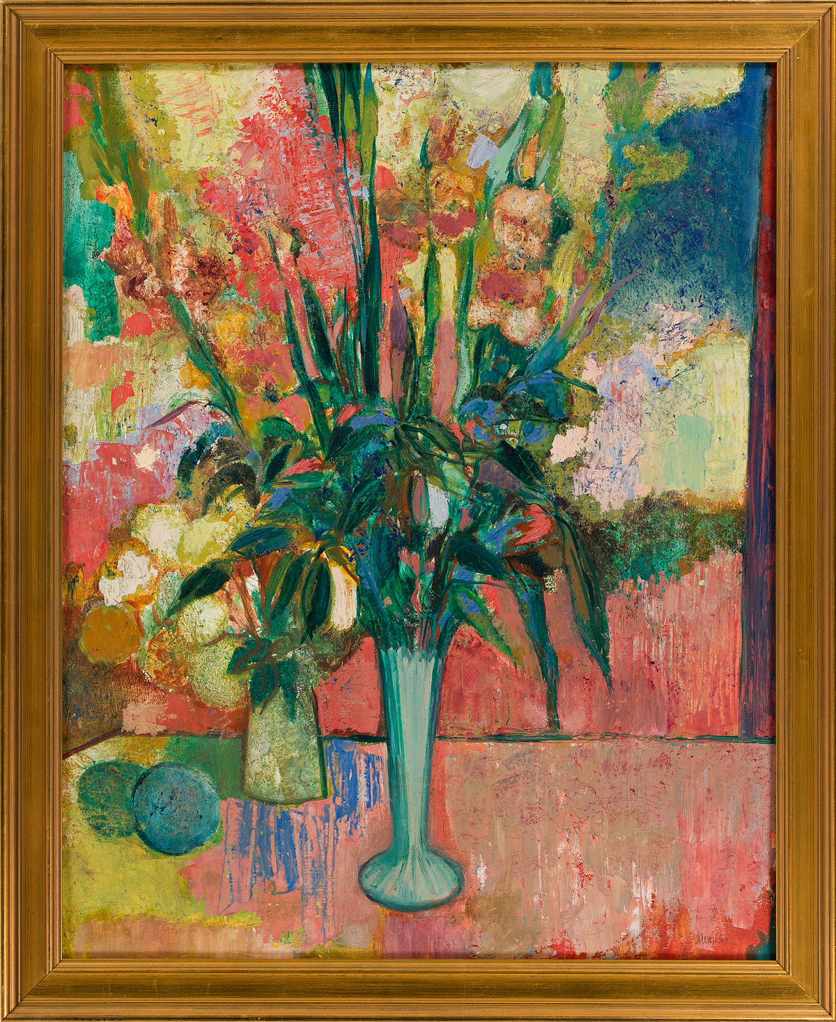 SIGMUND-JOSEPH-MENKES-Still-Life-with-Flowers-in-a-Vase