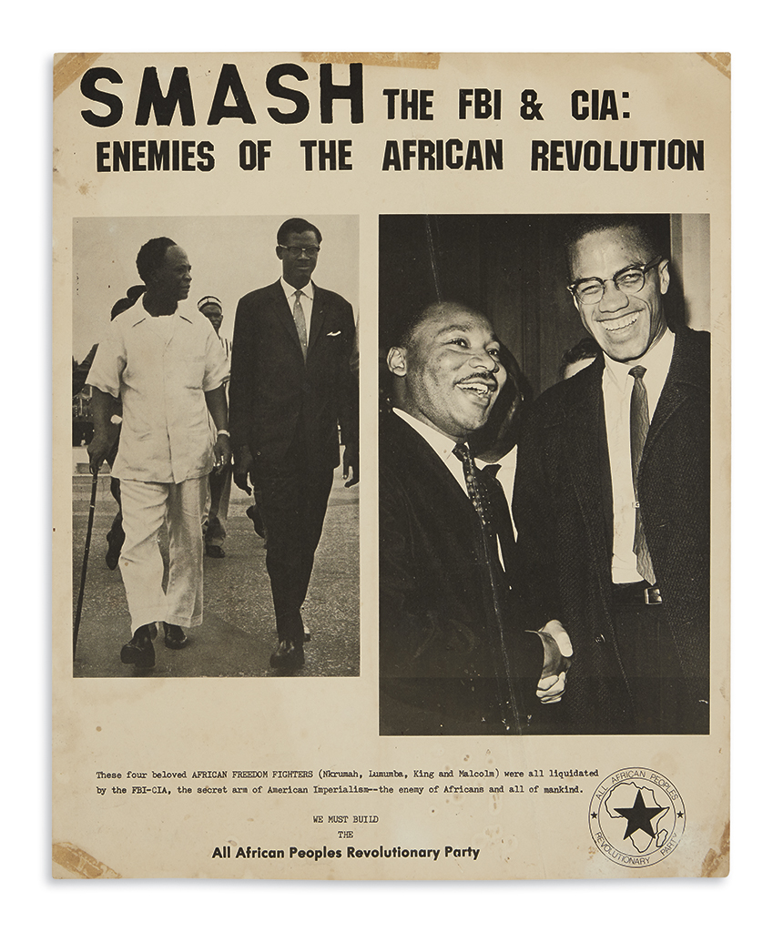 (AFRICA.) Smash the FBI & CIA: Enemies of the African Revolution.