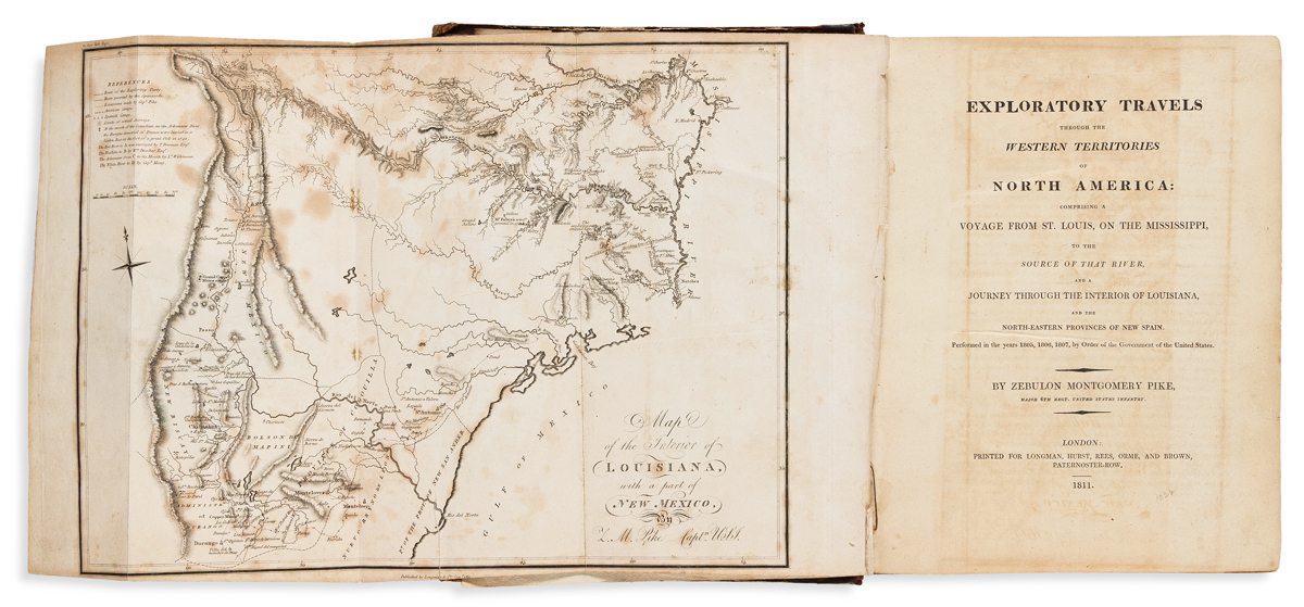 Pike, Zebulon Montgomery (1779-1813) Exploratory Travels through the Western Territories of North America.