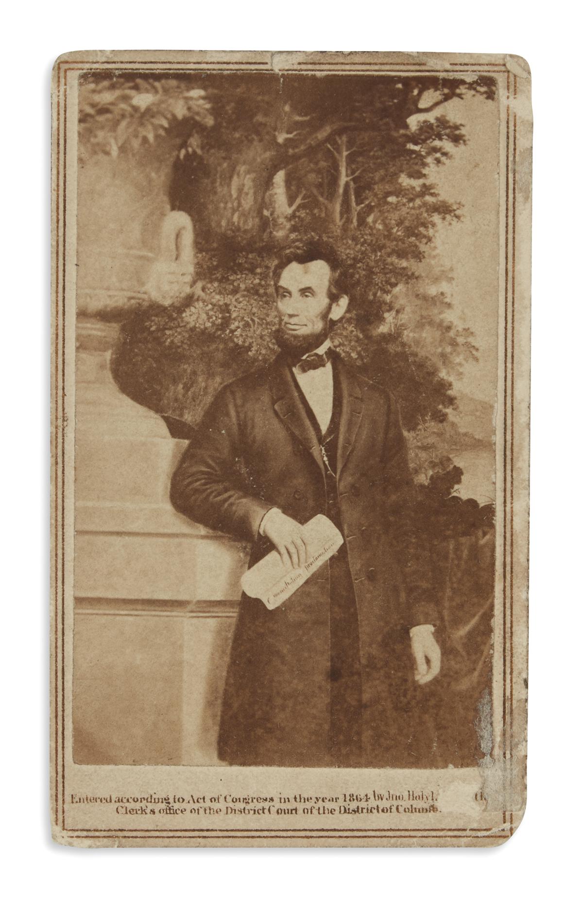 (PHOTOGRAPHY)-A-carte-de-visite-of-Lincoln-with-the-Emancipa
