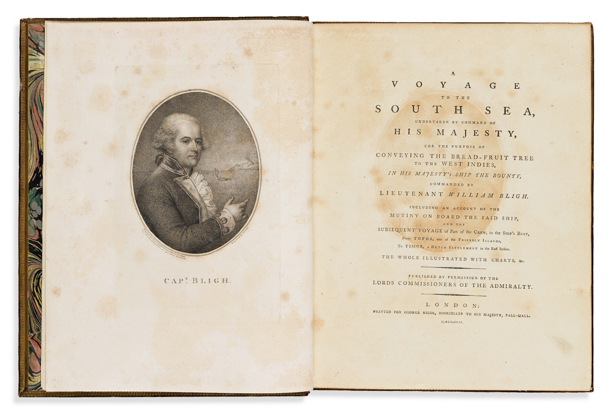 Bligh, William (1754-1817) A Voyage to the South Sea.