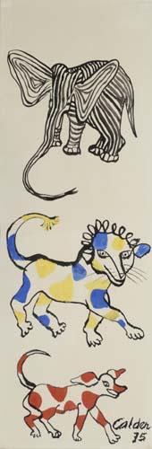 ALEXANDER-CALDER-Elephant-Lion-and-Dog
