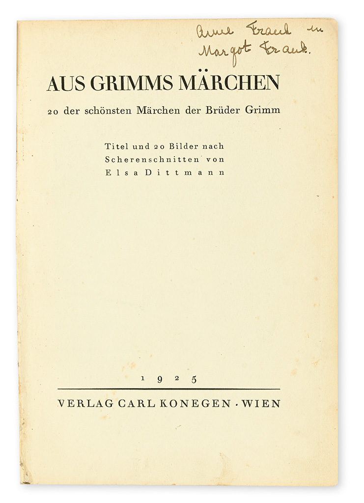 FRANK-ANNE-Aus-Grimms-Märchen-Signed-and-Inscribed-Anne-Fran