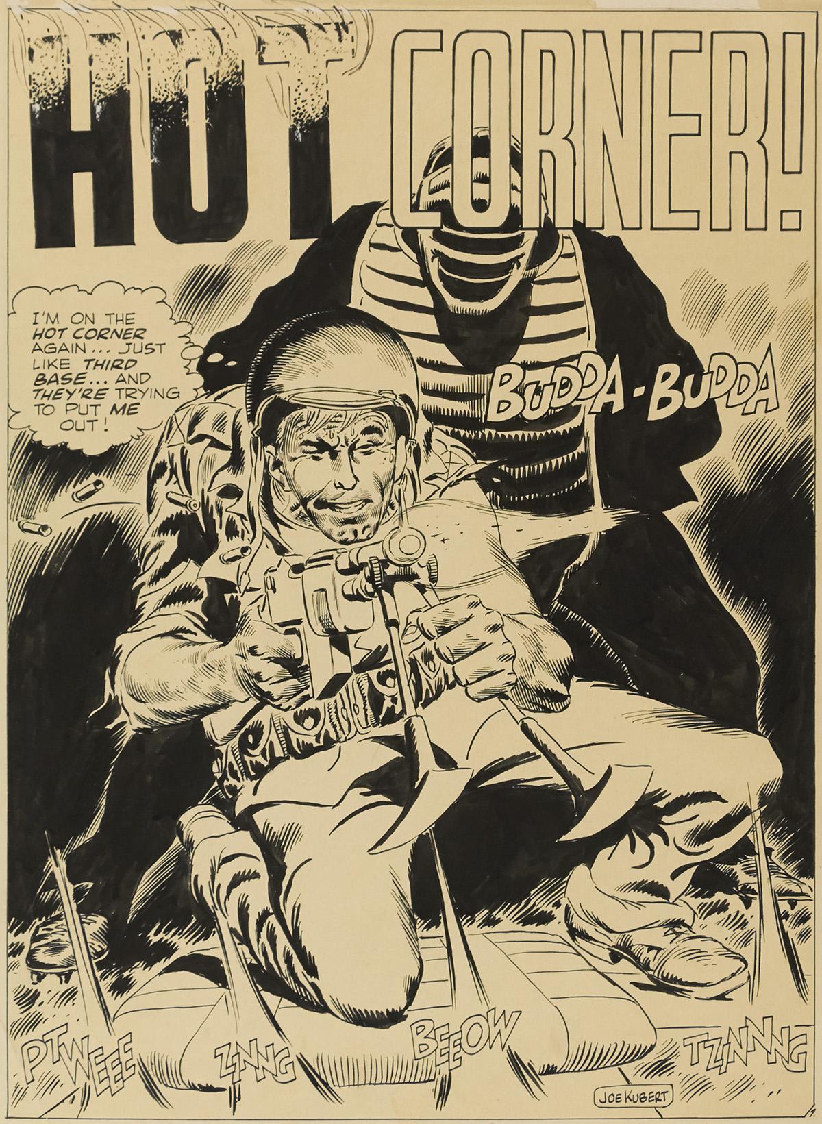 JOE KUBERT. Hot Corner! [COMICS / CARTOONS / G.I. COMBAT / WAR / DC COMICS]