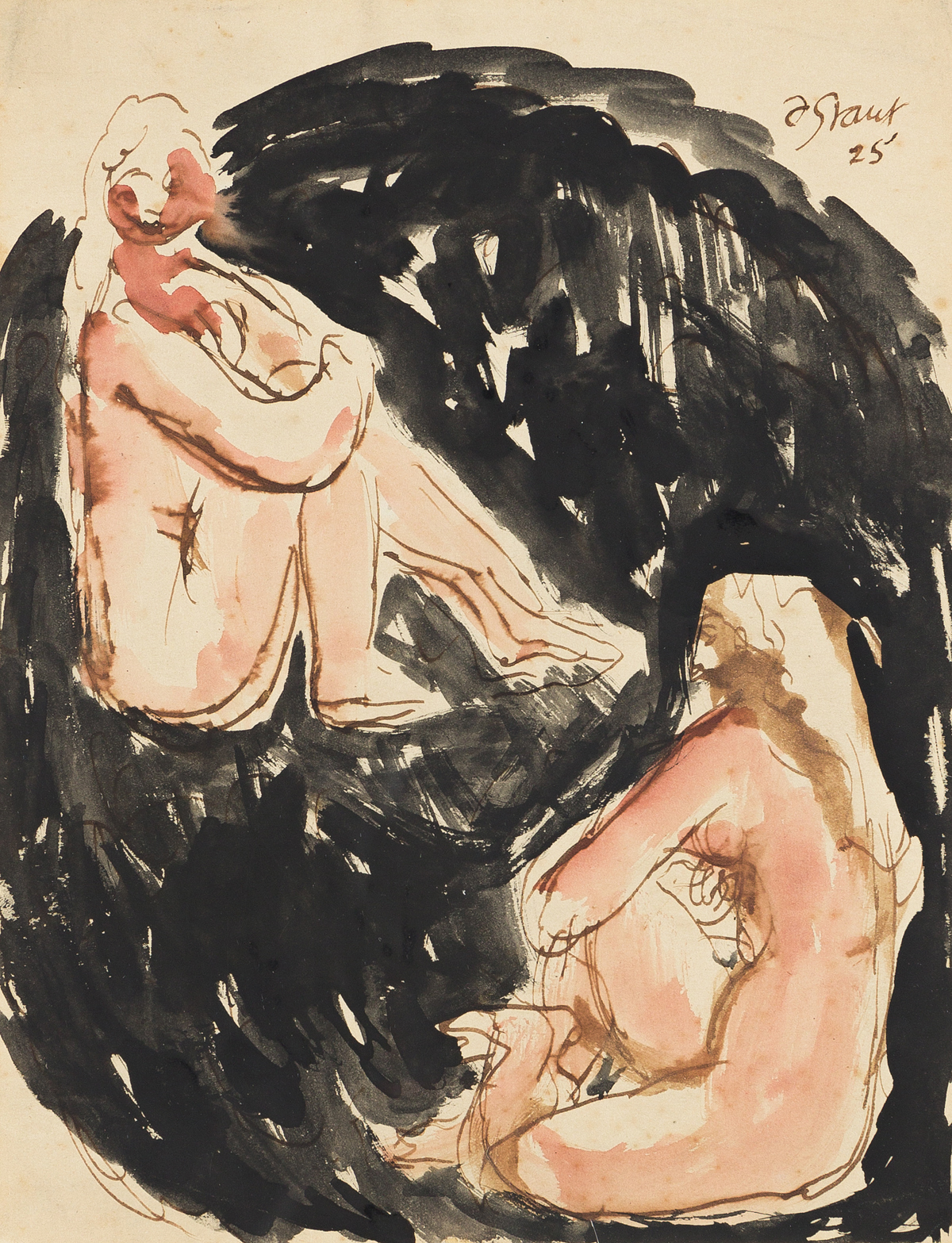 DUNCAN GRANT (1885-1978) Two Seated Nudes.