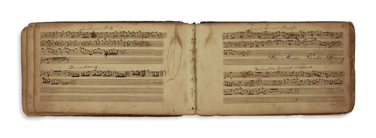 (MUSIC)-Pair-of-volumes-of-manuscript-music
