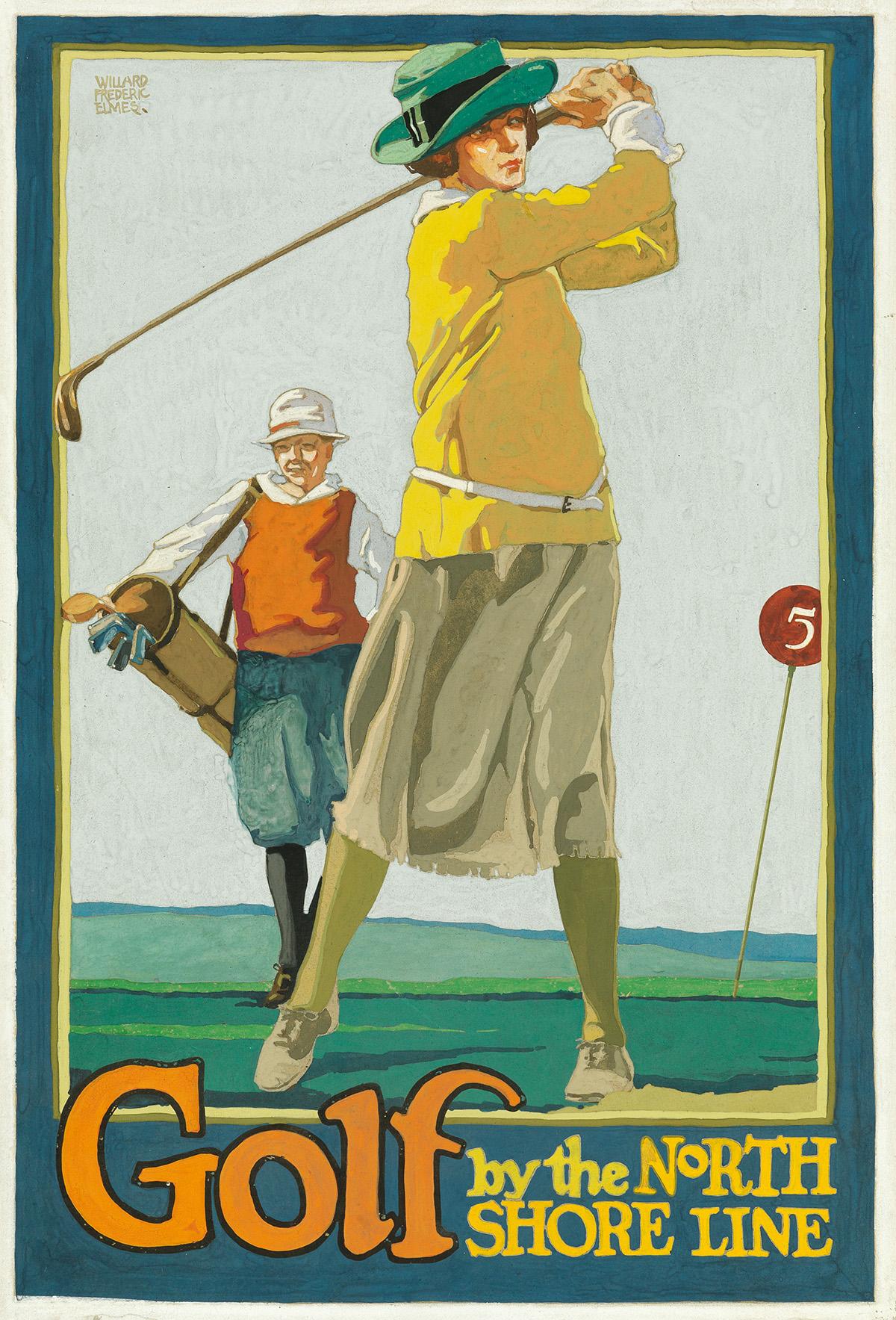 WILLARD-FREDERIC-ELMES-(1900-1956)-GOLF-BY-THE-NORTH-SHORE-L