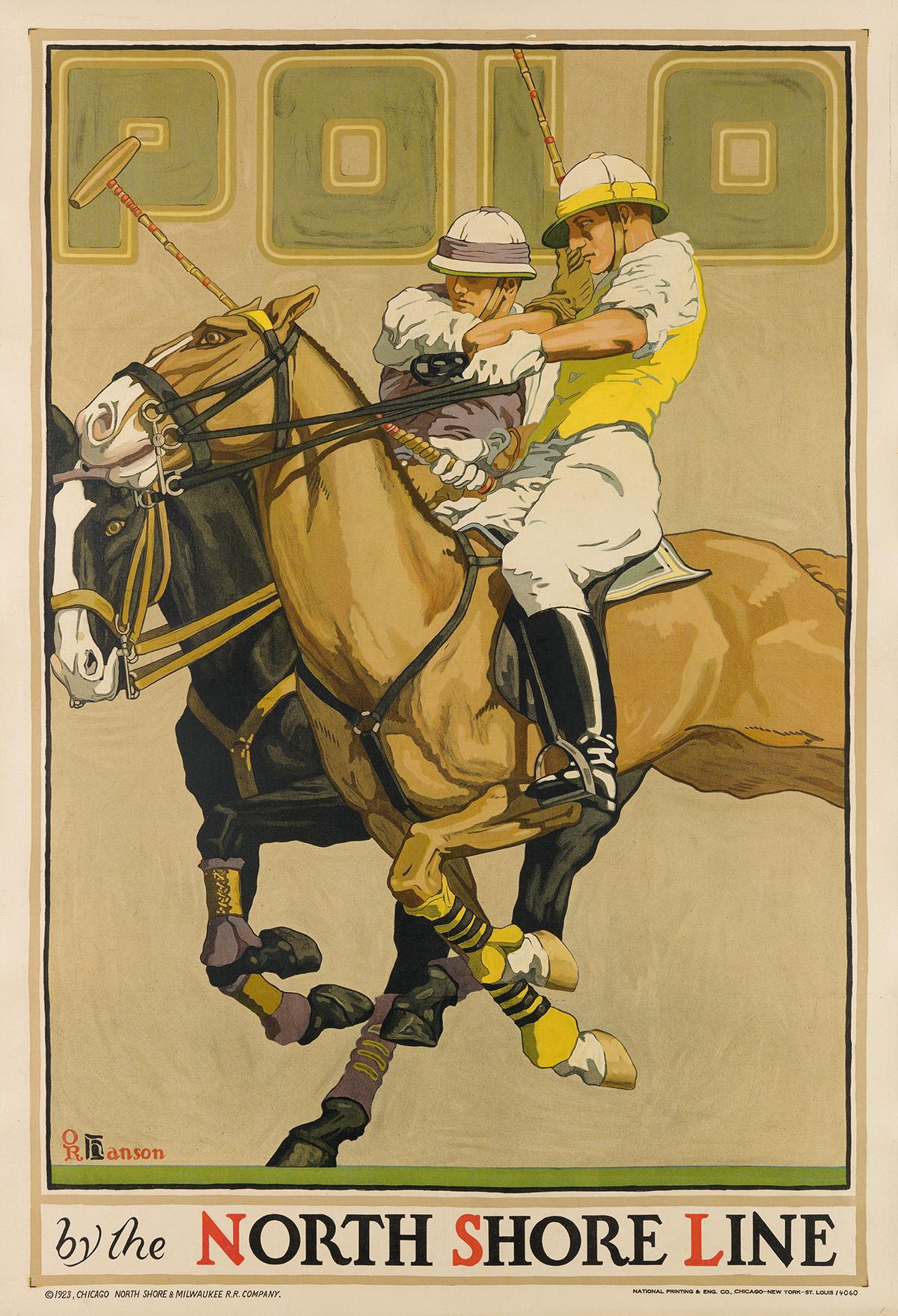 OSCAR-RABE-HANSON-(1901-1926)-POLO--BY-THE-NORTH-SHORE-LINE-