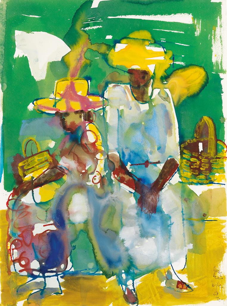 ROMARE BEARDEN (1911 - 1988) At the Dock.
