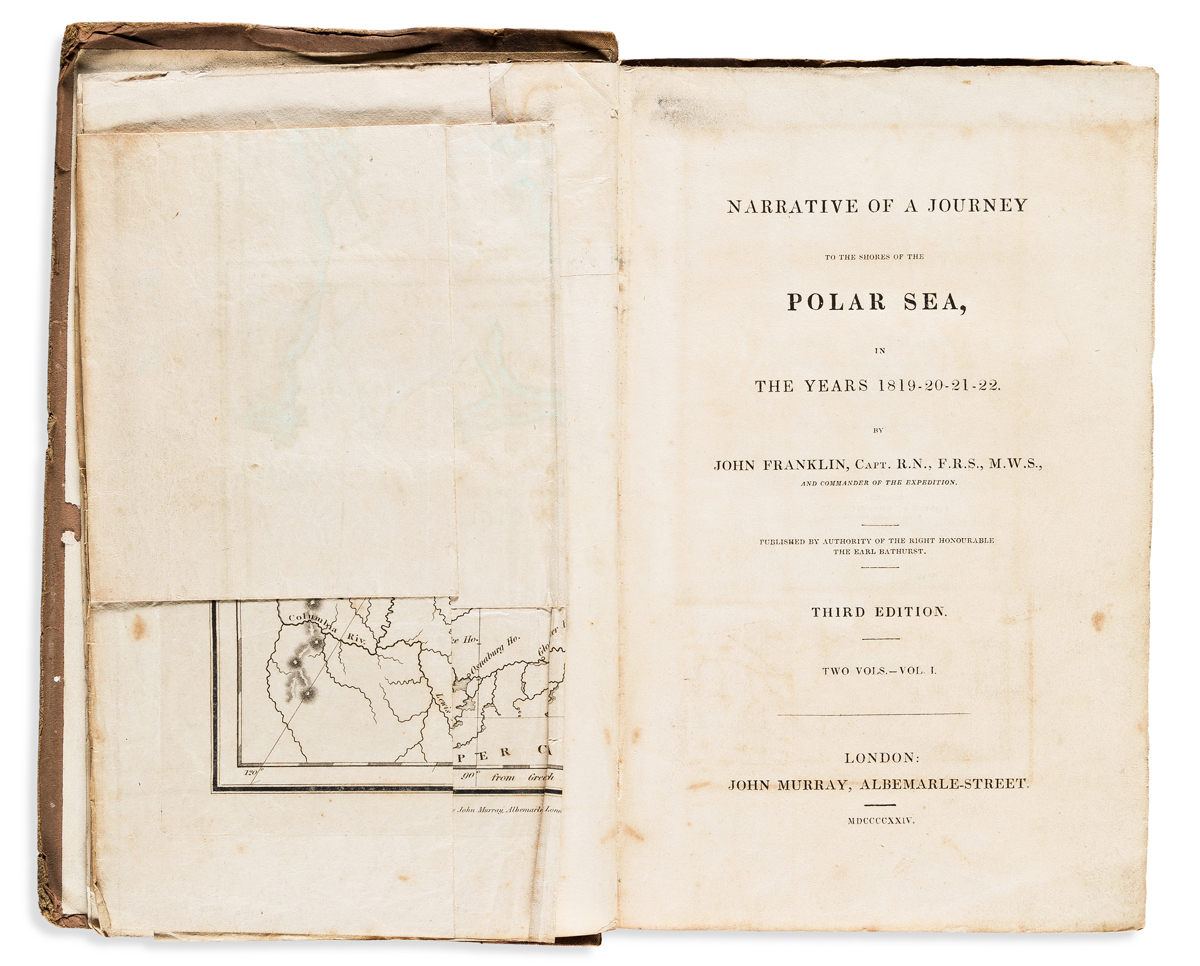 Franklin, Sir John (1786-1847) Narrative of a Journey to the Shores of the Polar Sea.