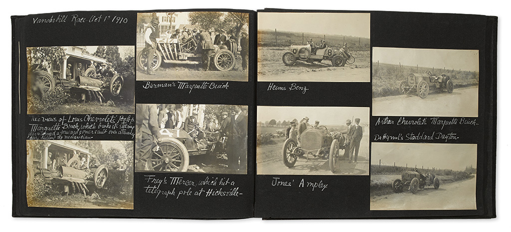 (NEW YORK--LONG ISLAND.) Photo album kept by presidential cousin Gladys Roosevelt, full of early automotive and aviation images.