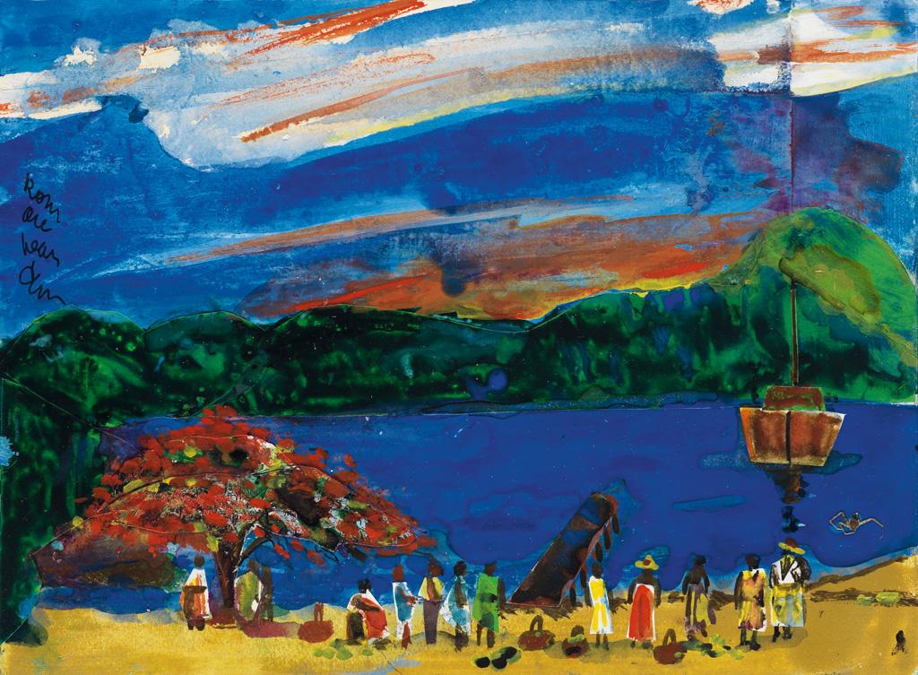 ROMARE BEARDEN (1911 - 1988) The Evening Boat.