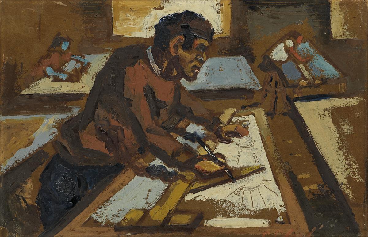 CLAUDE-CLARK-(1915---2001)-Drafting