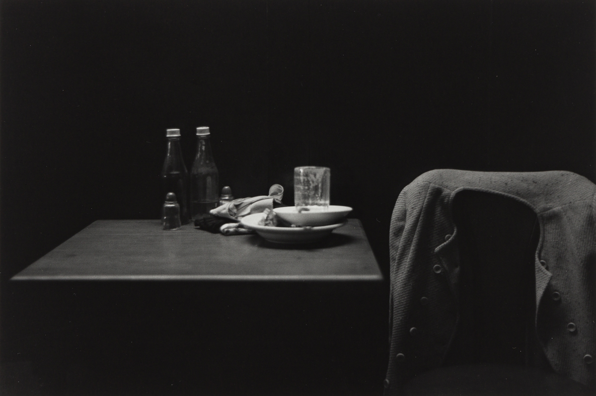 ROY DECARAVA (1919-1919) Catsup Bottles, Table and Coat, New York.