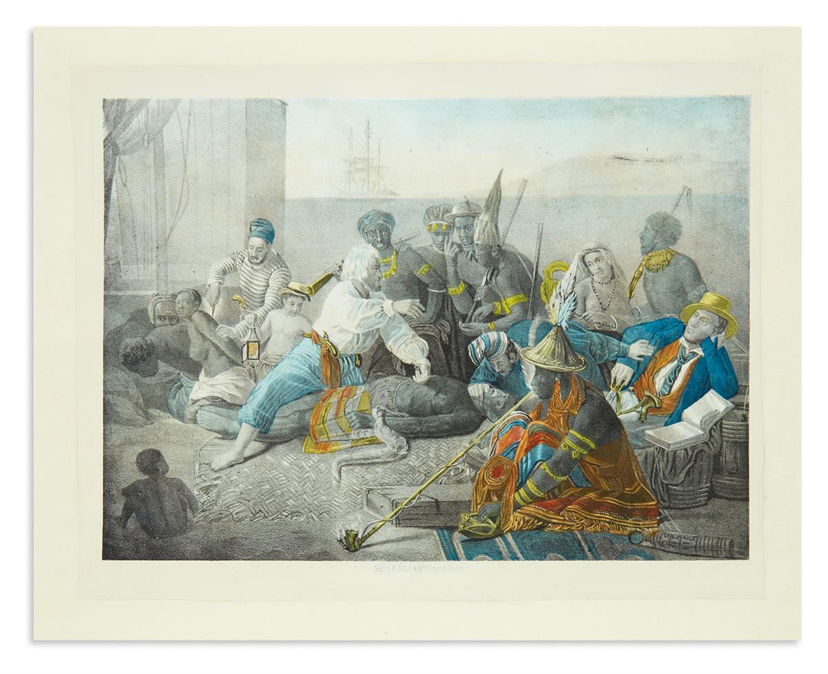 (SLAVERY-AND-ABOLITION)-Sala-F;-lithographer-[The-Slave-Trad