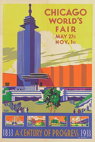 WEIMER-PURSELL--CHICAGO-WORLDS-FAIR-1933-41x28-inches-Neely-