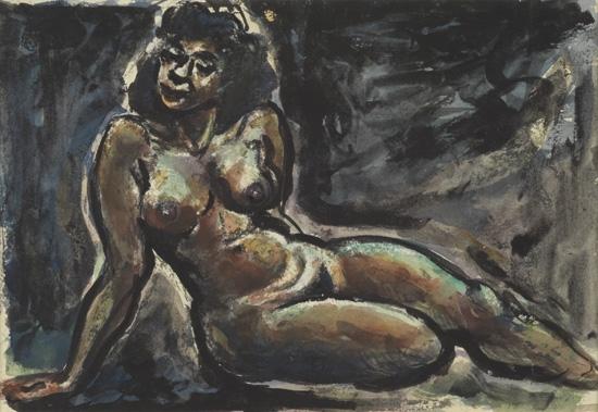 DOX THRASH (1892 - 1965) Nude Leaning on One Arm.
