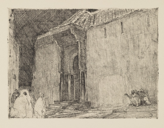 HENRY OSSAWA TANNER (1859 - 1937) Mosque, Tangier.