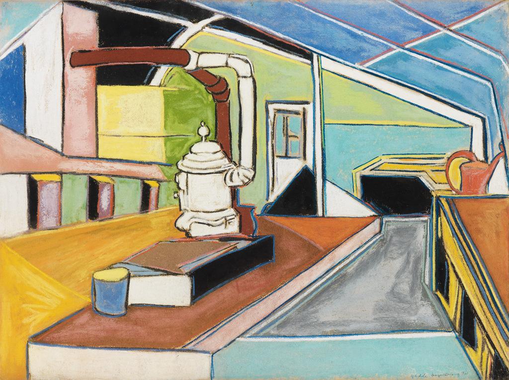 BEAUFORD DELANEY (1901 - 1979) Greenhouse at Yaddo.