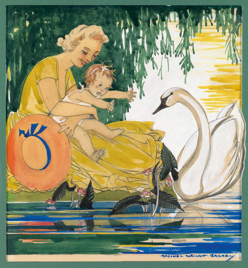 MAGINEL WRIGHT ENRIGHT BARNEY. Mother and child with Swan.