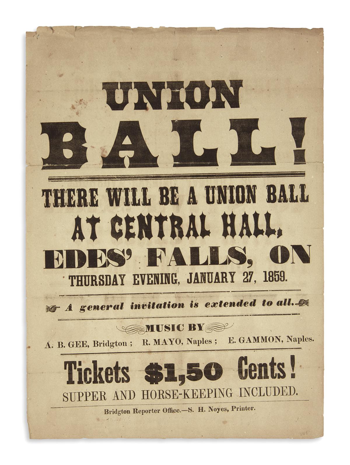 (MAINE)-Union-Ball