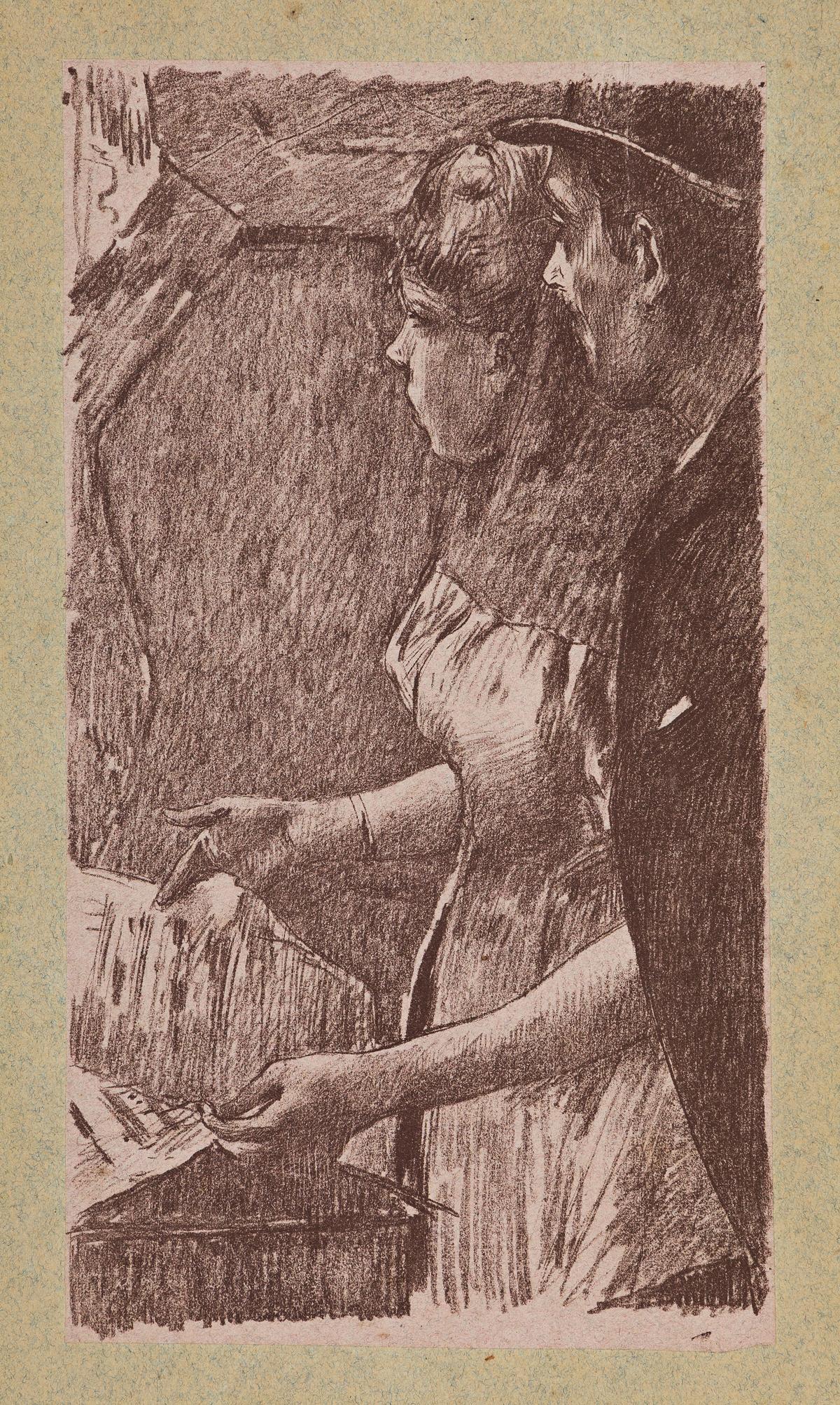 EDGAR DEGAS and GEORGE W. THORNLEY  LAttente de la Chanteuse.