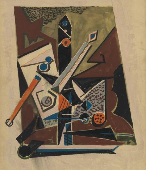 DOX THRASH (1892 - 1965) Untitled (Cubist Study).