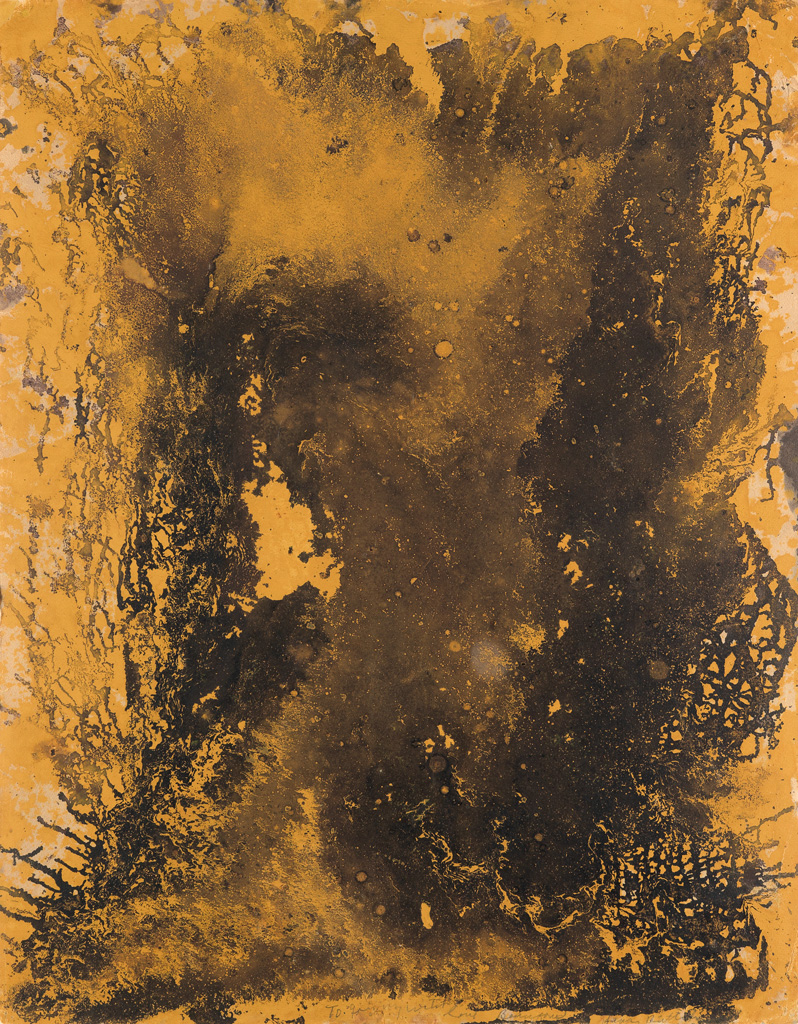 BEAUFORD DELANEY (1901 - 1979) Untitled (Brown and Orange Abstraction).