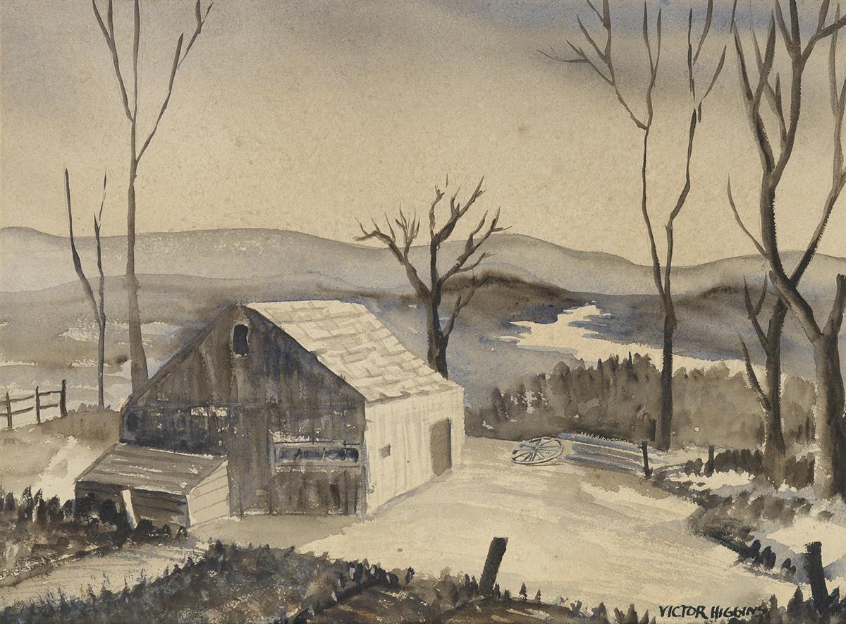 VICTOR-HIGGINS-Winter-Landscape