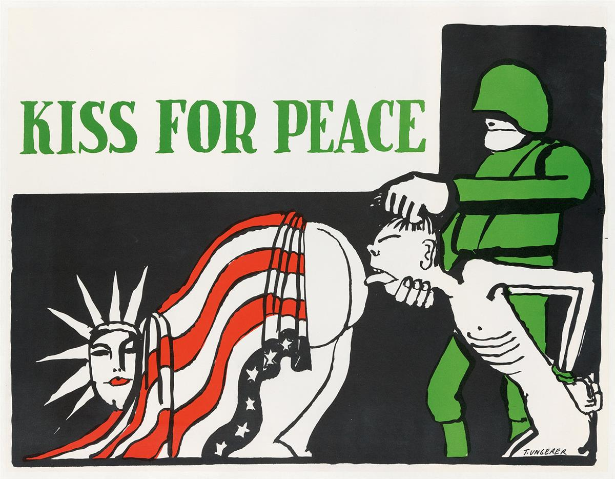 TOMI-UNGERER-(1931-2019)-KISS-FOR-PEACE-1967-21x27-inches-53