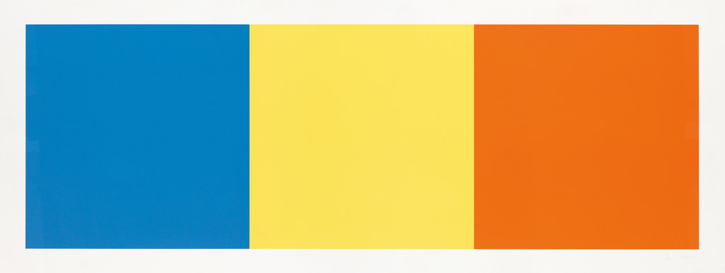 ELLSWORTH KELLY Blue, Yellow and Red Squares.
