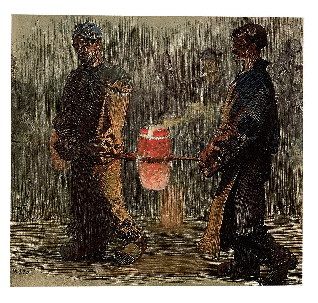 HEINRICH KLEY. Steel Workers.