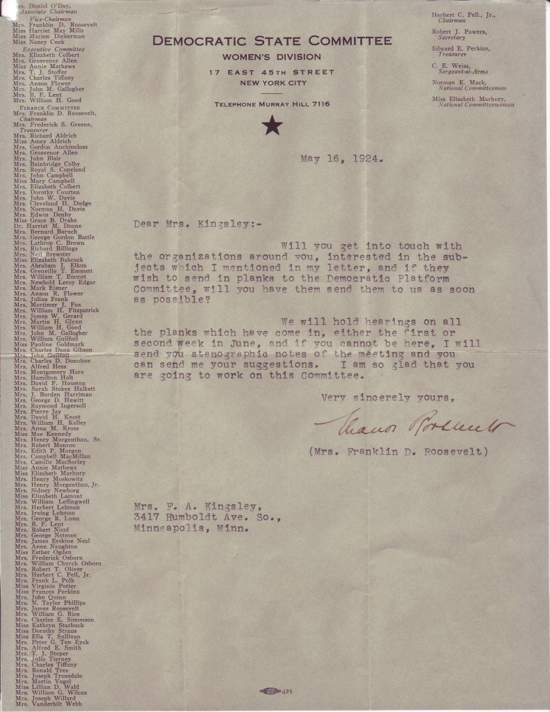 ROOSEVELT-ELEANOR-Two-Typed-Letters-Signed