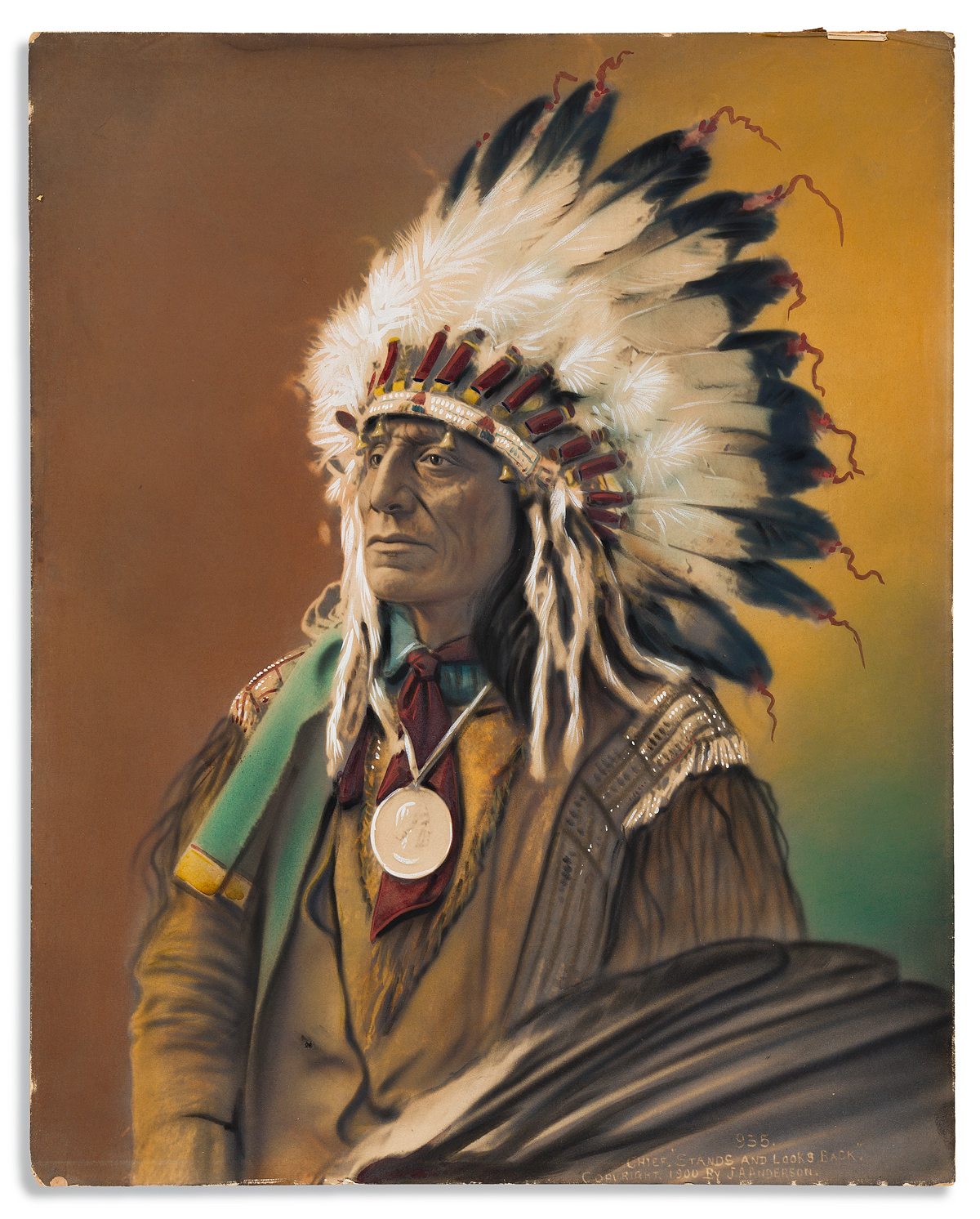 (AMERICAN-INDIANS--PHOTOGRAPHS)-John-Alvin-Anderson-Chief-St