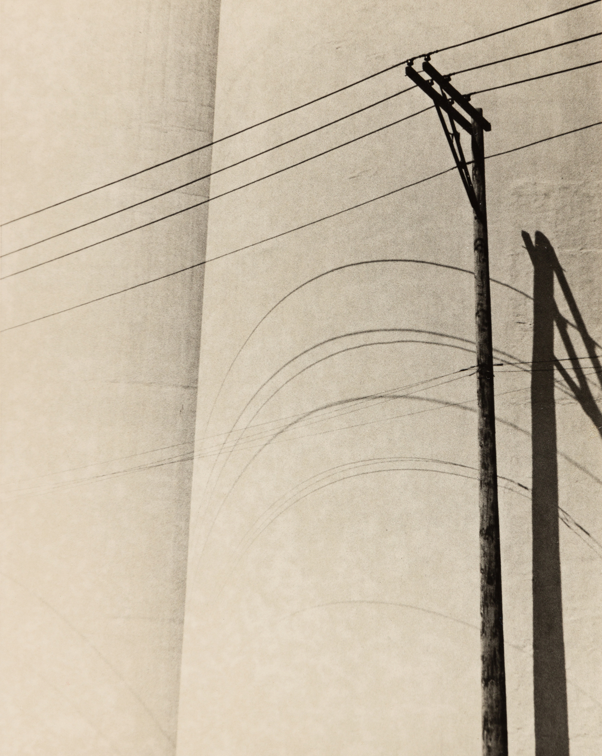 RALSTON CRAWFORD (1906-1978) Telephone wires.