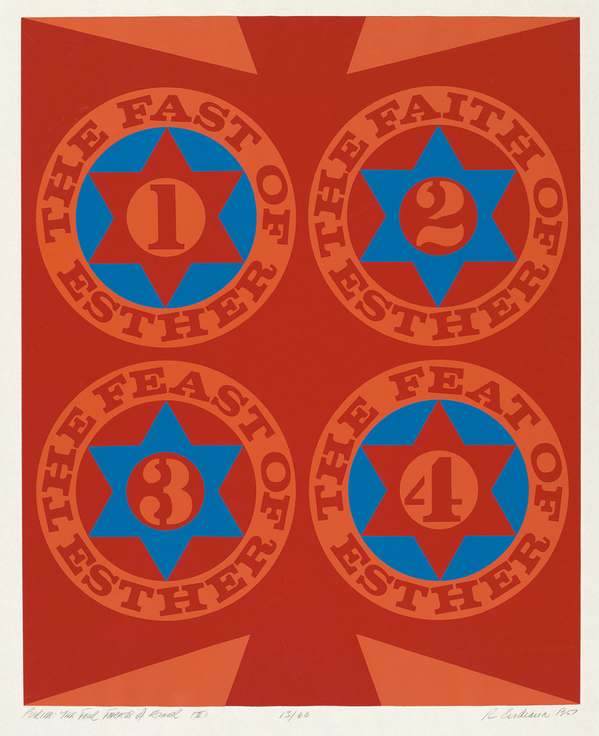ROBERT-INDIANA-Purim-The-Four-Facets-of-Esther-(II)