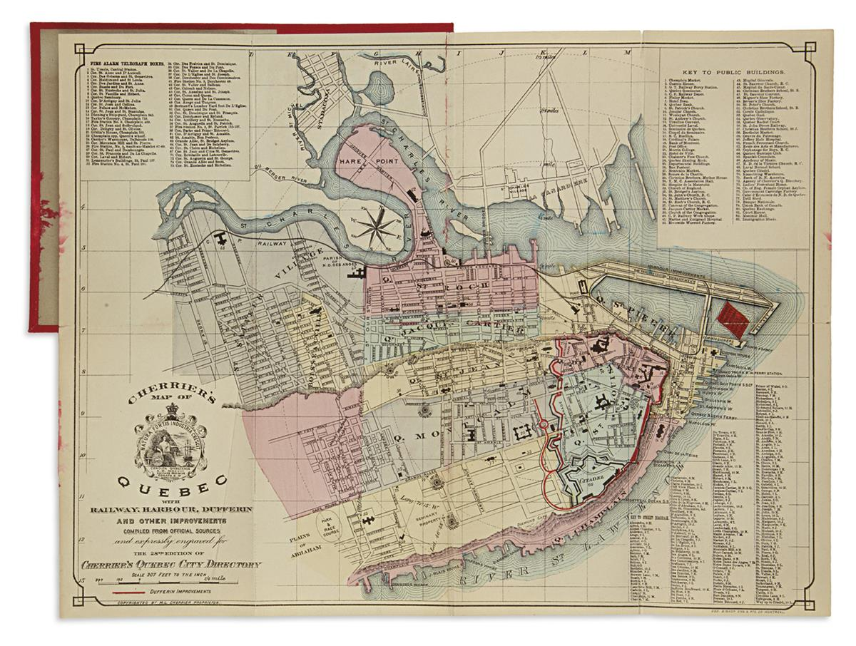 (QUEBEC)-Cherrier-ML-Cherriers-Map-of-Quebec-with-Railway-Harbour-Dufferin-and-Other-Improvements
