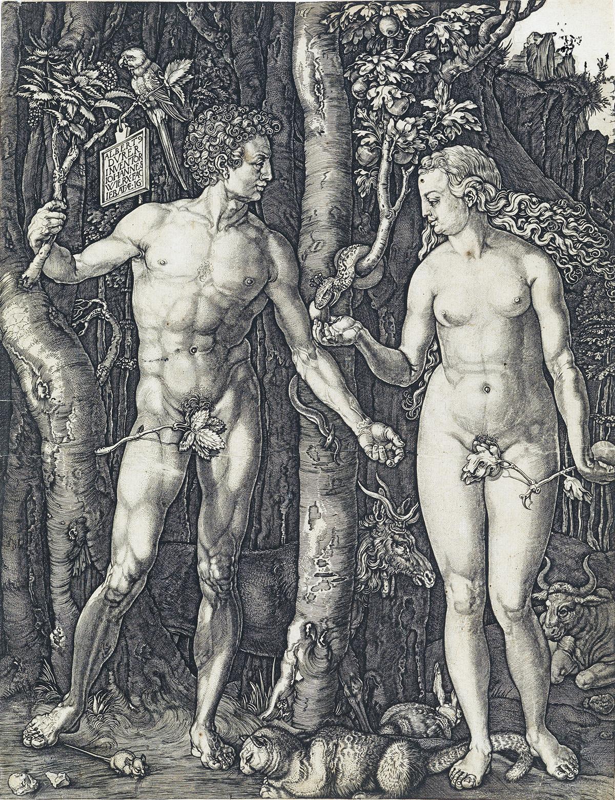 JOHANNES-WIERICX-(after-Dürer)-Adam-and-Eve