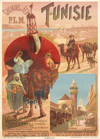 F. HUGO DALESI (1849-1906). TUNISIE. 1892. 41x29 inches. A. Bellier & Cie., Paris.